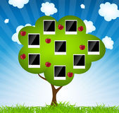 Ejemplo del vector del árbol de familia libre illustration