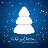 Ejemplo del vector del árbol de navidad. Imagen de archivo libre de regalías