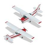 Ejemplo del vector del aeroplanos Vuelo del aeroplano Icono plano Vector del aeroplano El avión escribe Avión EPS Avión 3d plano Imagen de archivo