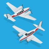 Ejemplo del vector del aeroplanos Vuelo del aeroplano Icono plano Vector del aeroplano El avión escribe Avión EPS Avión 3d plano Imágenes de archivo libres de regalías