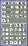 Ejemplo del vector del alfabeto Imagen de archivo