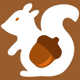 Ejemplo del vector del aquirrel en marrón Libre Illustration