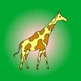 Ejemplo del vector del arte pop de la jirafa Foto de archivo