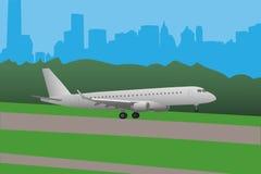 Ejemplo del vector del aterrizaje de aeroplano Fotografía de archivo libre de regalías