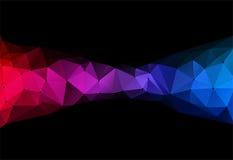 Ejemplo del vector del backround geométrico del triángulo del color ilustración del vector