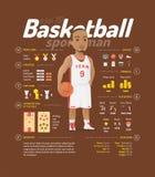 Ejemplo del vector del baloncesto Fotos de archivo libres de regalías