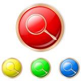 Ejemplo del vector del botón de la búsqueda Foto de archivo