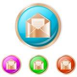 Ejemplo del vector del botón del correo Foto de archivo