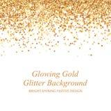Ejemplo del vector del brillo del oro que brilla intensamente Imagenes de archivo