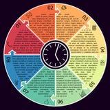 Ejemplo del vector del círculo de Infographic del negocio Imagenes de archivo