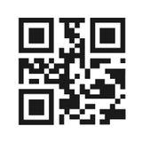 Ejemplo del vector del código de QR Fotos de archivo