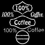 Ejemplo del vector del café del logotipo del grunge Stock de ilustración