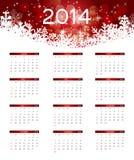 ejemplo del vector del calendario del Año Nuevo 2014 Fotografía de archivo
