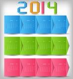 ejemplo del vector del calendario del Año Nuevo 2014 Foto de archivo libre de regalías