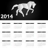 ejemplo del vector del calendario del Año Nuevo 2014 Imagenes de archivo