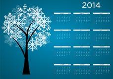 ejemplo del vector del calendario del Año Nuevo 2014 Fotos de archivo