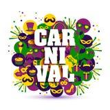 Ejemplo del vector del carnaval Foto de archivo libre de regalías