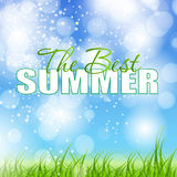 Ejemplo del vector del cartel de las vacaciones de verano Imagenes de archivo