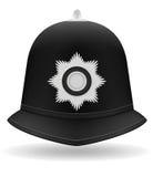 Ejemplo del vector del casco de la policía de Londres Imagenes de archivo