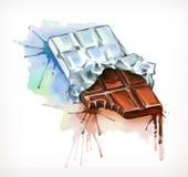 Ejemplo del vector del chocolate stock de ilustración