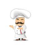 Ejemplo del vector del cocinero para la animación, juegos, diversas actitudes, cocina Imagenes de archivo