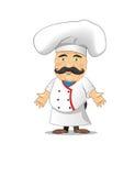 Ejemplo del vector del cocinero para la animación, juegos, diversas actitudes, cocina Fotografía de archivo