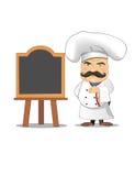 Ejemplo del vector del cocinero para la animación, juegos, diversas actitudes, cocina Foto de archivo