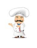 Ejemplo del vector del cocinero para la animación, juegos, diversas actitudes, cocina Imágenes de archivo libres de regalías