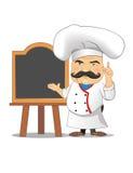 Ejemplo del vector del cocinero para la animación, juegos, diversas actitudes, cocina Fotos de archivo