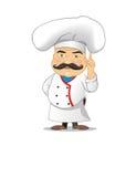 Ejemplo del vector del cocinero para la animación, juegos, diversas actitudes, cocina Fotografía de archivo libre de regalías