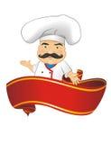 Ejemplo del vector del cocinero para la animación, juegos, diversas actitudes, cocina Imagen de archivo