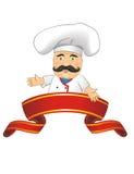 Ejemplo del vector del cocinero para la animación, juegos, diversas actitudes, cocina Fotos de archivo libres de regalías