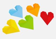 ejemplo del vector del color del corazón fotografía de archivo libre de regalías