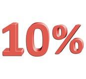 Ejemplo del vector del 10% con el efecto 3D Imagenes de archivo
