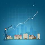 Ejemplo del vector del concepto de las propiedades inmobiliarias libre illustration