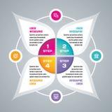 Ejemplo del vector del concepto del negocio de Infographic Disposición infographic creativa Concepto del vector de Infograph Info Imagenes de archivo