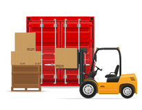 Ejemplo del vector del concepto del transporte de la carga Foto de archivo