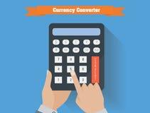 Ejemplo del vector del convertidor de la moneda Fotografía de archivo libre de regalías