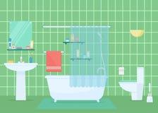 Ejemplo del vector del cuarto de baño Fotos de archivo