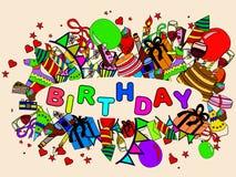 Ejemplo del vector del cumpleaños Imagenes de archivo
