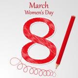 Ejemplo del vector del día de las mujeres Libre Illustration