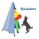 Ejemplo del vector del deporte del perro ilustración del vector