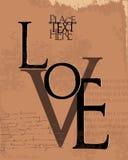 Ejemplo del vector del diseño del amor Fotografía de archivo libre de regalías