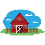 Ejemplo del vector del edificio agrícola Fotografía de archivo