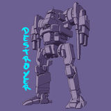 Ejemplo del vector del ejército del robot Foto de archivo