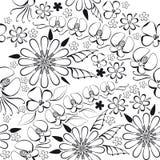 Ejemplo del vector del estampado de flores negro Fotografía de archivo
