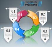 Ejemplo del vector del estilo de la papiroflexia de Infographics del negocio Imagen de archivo