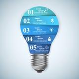 Ejemplo del vector del estilo de la papiroflexia de Infographics del negocio Bulbo ic Imagenes de archivo