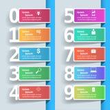 Ejemplo del vector del estilo de la papiroflexia de Infographics del negocio Lista de Imagenes de archivo