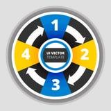 Ejemplo del vector del estilo de la papiroflexia del círculo de Infographics del negocio Fotos de archivo